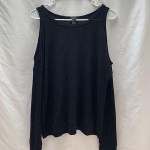 Forever21 Open Shoulder Black Sweater